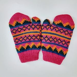 Other - 🔥 Pink Knitted & Lined Toddler Mittens